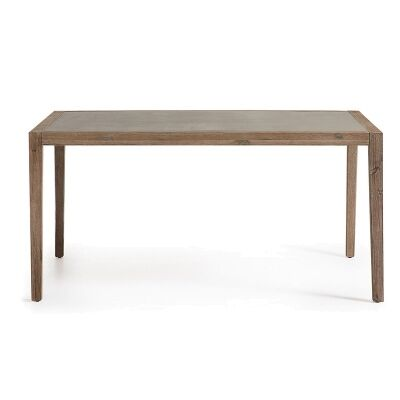 Rhodesia Solid Acacia Timber 160cm Indoor/Outdoor Superstone Top Dining Table