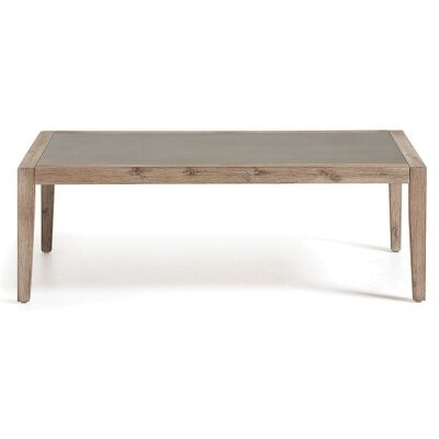 Rhodesia Solid Acacia Timber 120cm Indoor/Outdoor Superstone Top Coffee Table