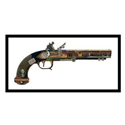 Merritt Framed Wall Art Print, Gun, 85cm, Black Frame