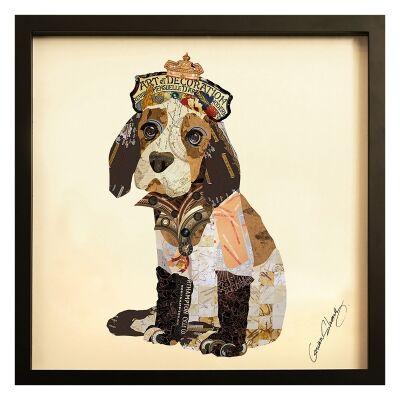 Merritt Framed Wall Art Print, Puppy With Crown, 65cm