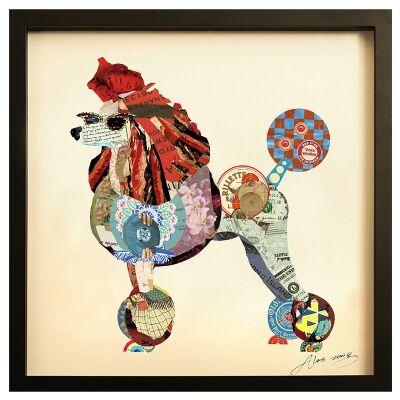 Merritt Framed Wall Art Print, Poodle Style, 65cm