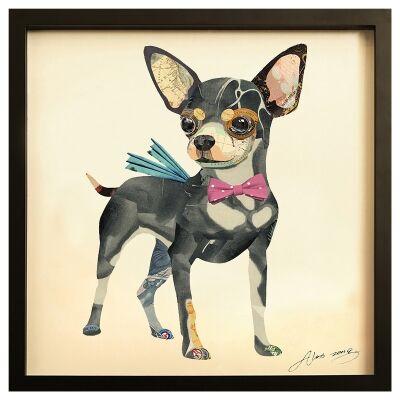 Merritt Framed Wall Art Print, Chihuahua, 65cm