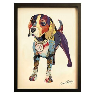 Merritt Framed Wall Art Print, Beagle I, 85cm