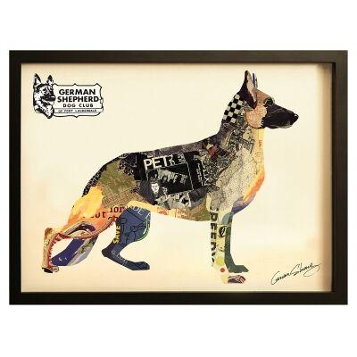 Merritt Framed Wall Art Print, German Shepherd, 85cm