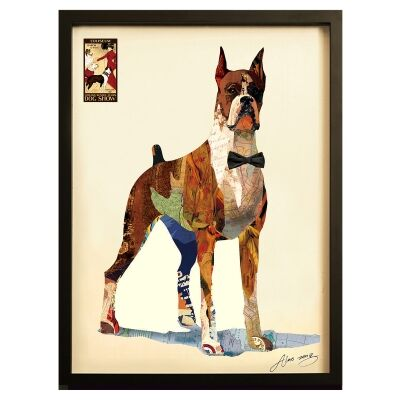 Merritt Framed Wall Art Print, Smart Boxer, 105cm