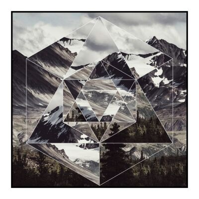 Prism Framed Wall Art Print, Valley, 60cm