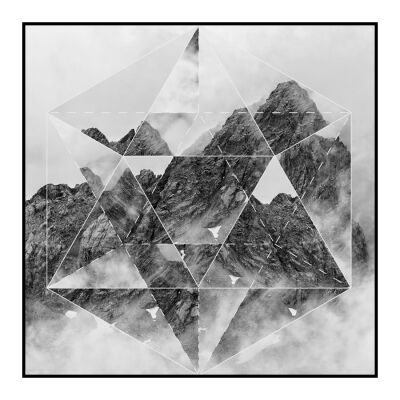 Prism Framed Wall Art Print, Mountain, 60cm