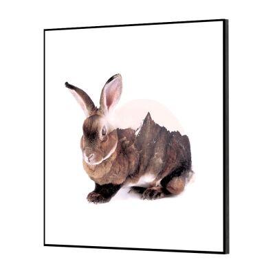 Wilden Framed Wall Art Print, Hare, 60cm