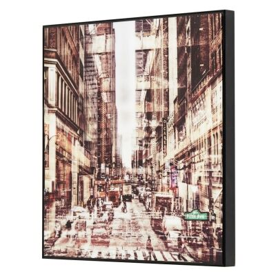Urban Framed Crystal Wall Art Print, Up From 5Th, 40cm