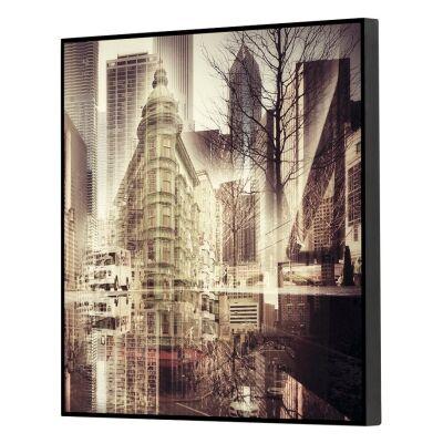 Urban Framed Wall Art Print, Downtown, 40cm