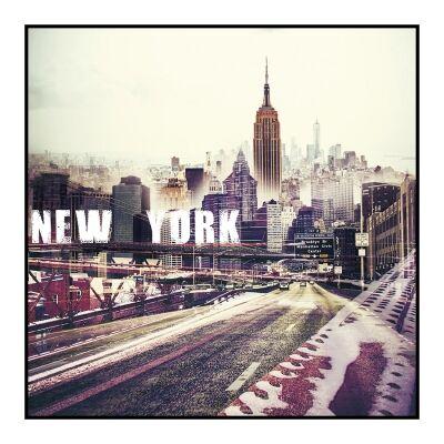 Urban Framed Wall Art Print, New York, 60cm