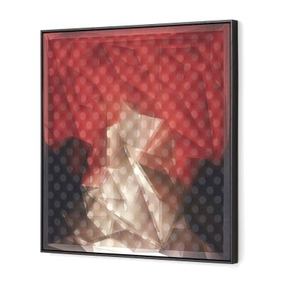 Magivision Framed 3D Wall Art, Abstract Red, 80cm