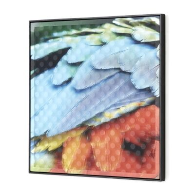 Magivision Framed 3D Wall Art, Feather Plume #2, 80cm