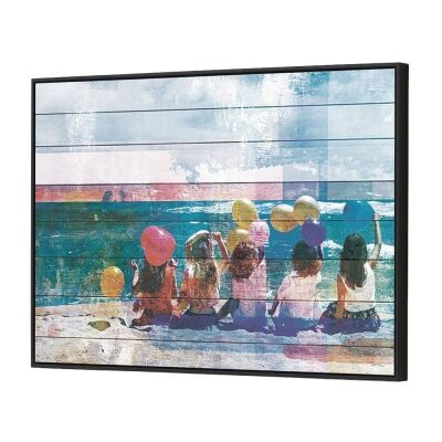 Balloons Framed Canvas Wall Art, 90cm