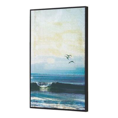 Morning Break Framed Canvas Wall Art, 90cm
