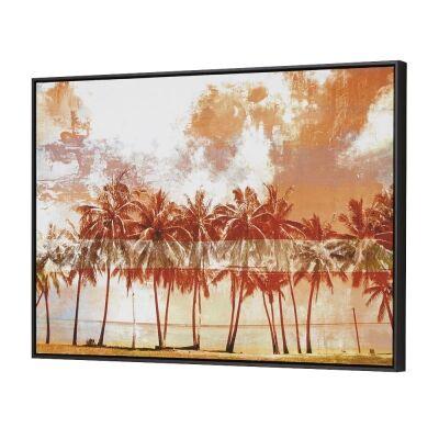 Palm Trees Framed Canvas Wall Art, 90cm