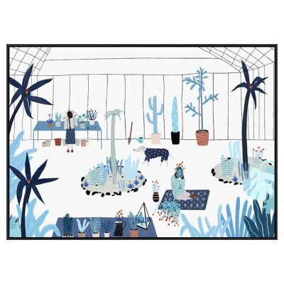 Greenhouse Framed Canvas Wall Art, 90cm