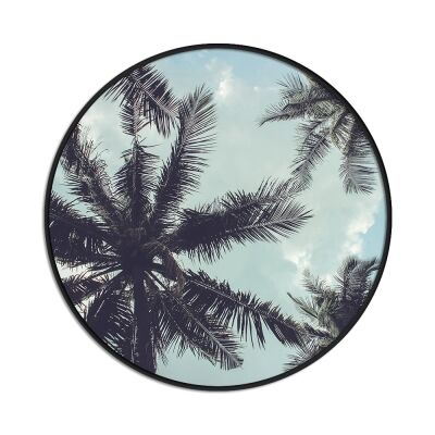 Palms in The Sky Framed Canvas Wall Art Print, 100cm