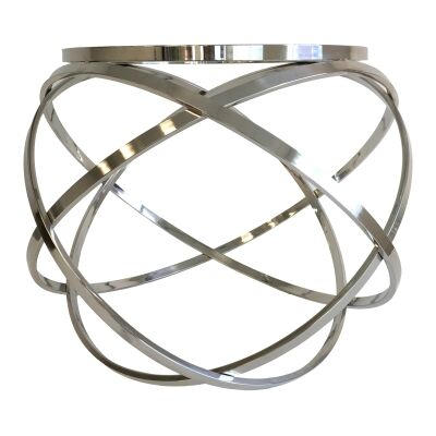 Grose Glass Topped Metal Round Side Table