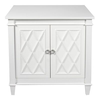 Plantation 2 Door Side Cabinet, 76cm, Satin White