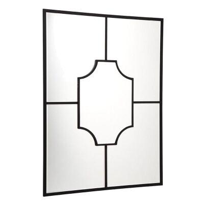 Boyd Wodden Frame Wall Mirror - Black