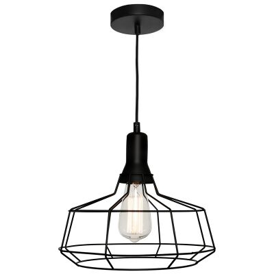 Cage Metal Wire Pendant Light, Large