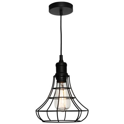 Cage Metal Wire Pendant Light, Small