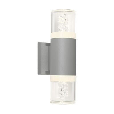 Calgary IP54 Outdoor Up / Down LED Wall Light, Silver