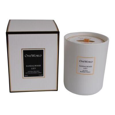Bayeux Soy Wax Blended Candle, Sandalwood Lily