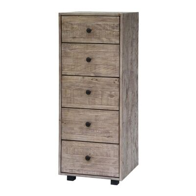 Cannes Reclaimed Timber 5 Drawer Lingerie Chest