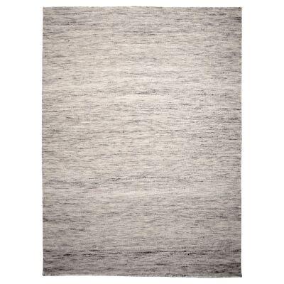 Capri Handwoven Wool Rug, 220x160cm, Light Grey
