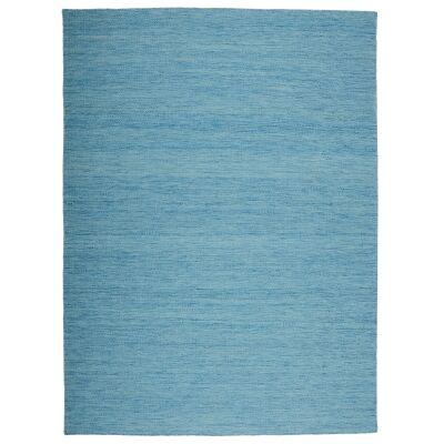 Capri Handwoven Wool Rug, 270x190cm, Turquoise
