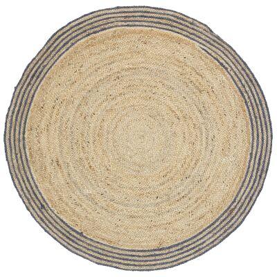 Capri Jute Round Rug, 240cm, Grey