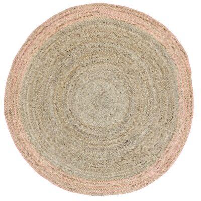 Capri Jute Round Rug, 200cm, Pink