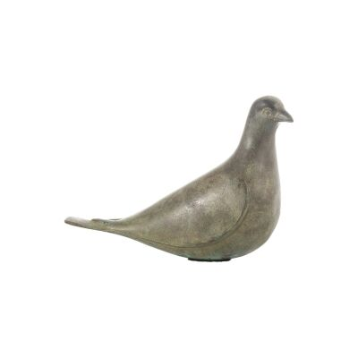 Ozan Bronze Dove Sculpture, Head Up