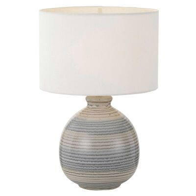 Carey Ceramic Base Table Lamp, Blue / White