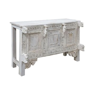 Rivera Carved Timber Console Table