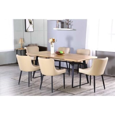 Carina 7 Piece Dining Table Set, 200cm