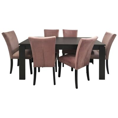 Carra 7 Piece Dining Table Set, 180cm