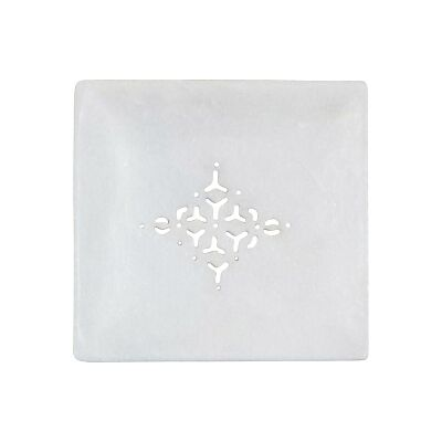 Webster Marble Square Soap Dish, Large