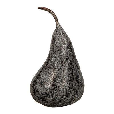 Burang Marble Pear Ornament, Small, Black