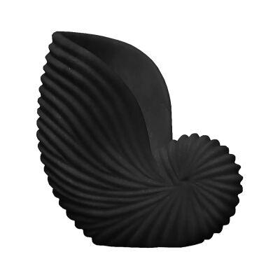 Lehriya Marble Conch Shell Decor, Large, Black