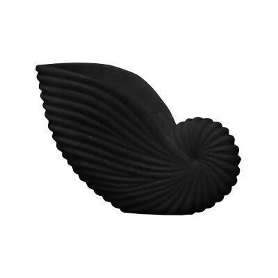 Lehriya Marble Conch Shell Decor, Medium, Black