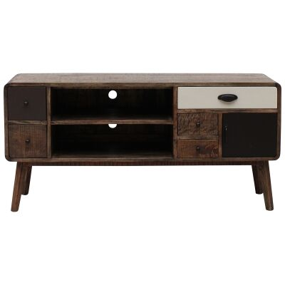 Axminster Hand Crafted Mango Wood Timber TV Unit, 125cm