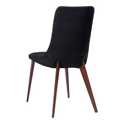 Forza Dining Chair, Black / Walnut