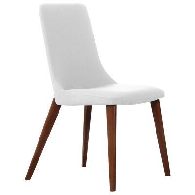 Forza Dining Chair, White / Walnut