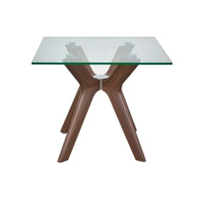 Forza Lamp Table, Walnut