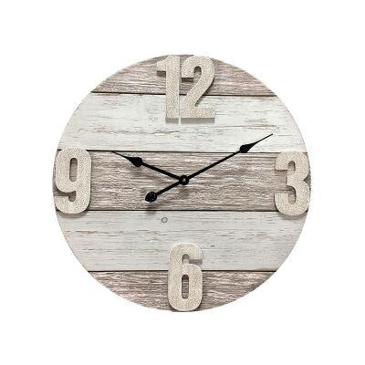 Baron Wooden Round Wall Clock, 58cm