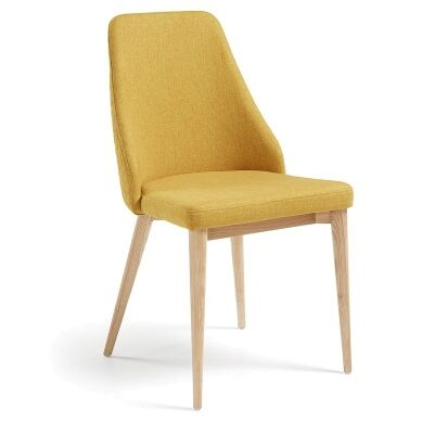Roxy Fabric Dining Chair, Mustard / Natural
