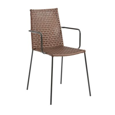 Paxon Synthetic Leather & Steel Dining Armchair